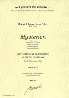 Biber Heinrich Ignaz Franz - Mysterien - Violon Et Basse Continue