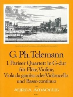 Telemann G.p. - Pariser Quartett In G-dur Twv 43:g1 - Score and Parts