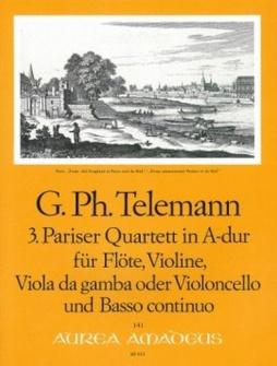 Telemann G.p. - Pariser Quartett In A-dur Twv 43:a1 - Score and Parts