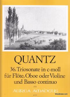 Quantz J.j. - Trio Sonata No. 36 In C Minor Qv 2:anh. 5 - Flute (oboe), Violin And Basso Continuo