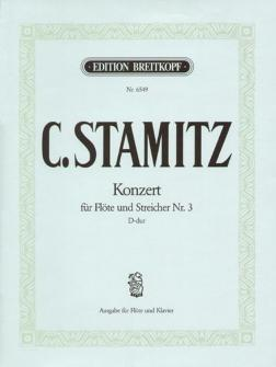 Stamitz C. - Flotenkonzert Nr. 3 D-dur - Flute, Piano