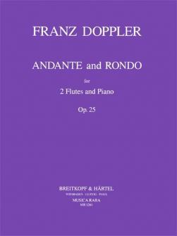 Doppler F. - Andante Und Rondo Op. 25 - 2 Flutes, Piano