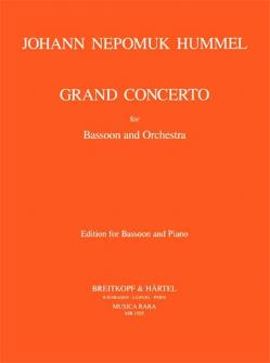 Hummel J.n. - Grand Concerto - Basson, Piano