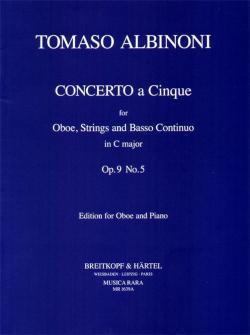 Albinoni T. - Concerto A 5 En Do Op. 9/5 - Hautbois, Piano