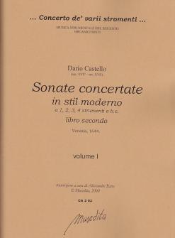 Castello - Sonate Concertate In Stil Moderno (libro Secondo) - Conducteur