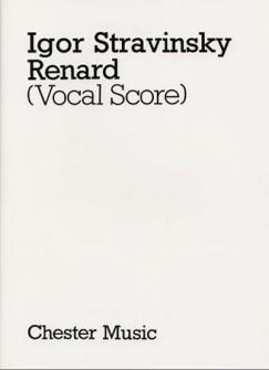 Stravinsky Igor - Le Renard - Chant,piano