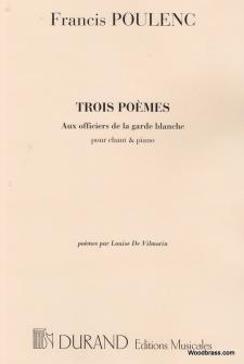Poulenc F. - Aux Officiers...  - Chant Et Piano
