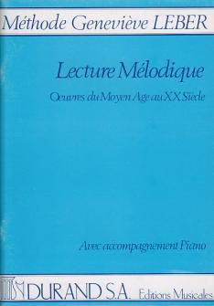 Leber Genevieve - Lecture Melodique - Avec Accompagnement
