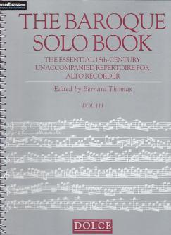 The Baroque Solo Book - Flute A Bec Alto Solo