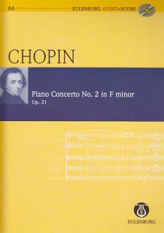 Chopin Frederic - Piano Concerto N°2 F Minor - Conducteur Poche + Cd