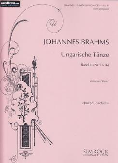Brahms Johannes - Hungarian Dances  Vol.3 - Violin And Piano