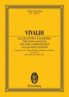 Vivaldi Antonio - The Four Seasons Op 8/1 Rv 269 / Pv 241 - Violin, Strings And Basso Continuo