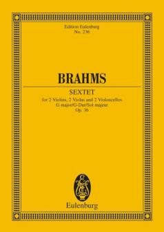 Brahms Johannes - String Sextet G Major Op. 36 - 2 Violins, 2 Violas And 2 Cellos