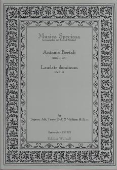 Bertali A. - Laudate Dominum (ps. 116) - Voix Et Instruments