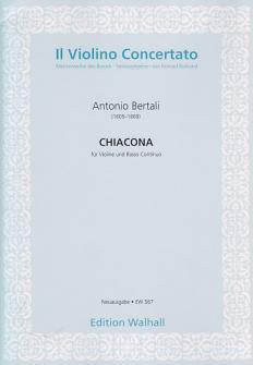 Bertali A. - Chiacona In D - Violon Et Bc