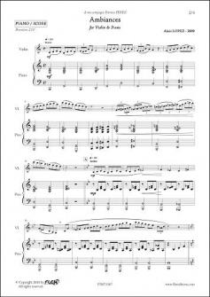 Lopez A Ambiances Violon Piano