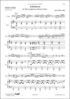 Lopez A Ambiances Saxhorneuphoniumtuba Piano