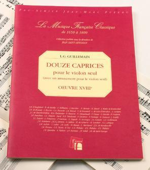 Guillemain L.g. - Douze Caprices Pour Le Violon Seul - Fac-simile Fuzeau