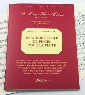 Caix D'hervelois L. De - Deuxieme Recueil De Pieces Pour La Flute Avec La Basse - Fac-simile Fuzeau