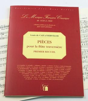 Caix D'hervelois L. De - Pieces Pour La Flute Traversiere Avec La Basse Continue. - Fac-simile