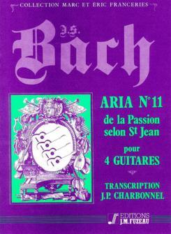 Bach J.s. - Aria N°11 De La Passion Selon St Jean - 4 Guitares