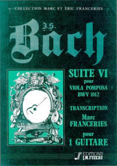 Bach J.s. - Suite Vi, Pour Viola Pomposa Bwv 1012 - Guitare