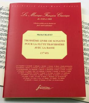 Blavet M. - Troisieme Livre De Sonates - Flute Traversiere, Basse - Fac-simile Fuzeau