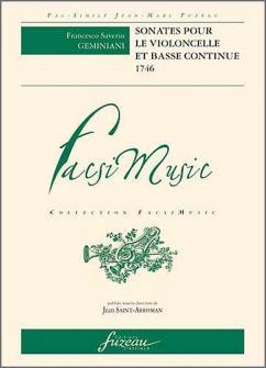 Geminiani F.s. - Sonates Pour Le Violoncelle Et Basse Continue, Paris, Madame Boivin, Le Clerc - 174