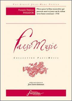 Philidor F.d. - Pieces Pour La Flute Traversiere Avec La Basse Continue - Fac-simile Fuzeau
