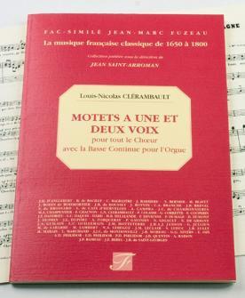 Clerambault N. - Motets A 1 Et 2 Voix Pour Tout Le Choeur Avec Basse Continue Pour L'orgue