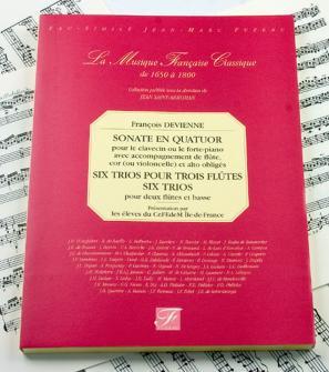 Devienne F. - Sonate En Quatuor, Six Trios 2 Flutes Et Basse, Six Trios 3 Flutes - Fac-simile Fuzeau