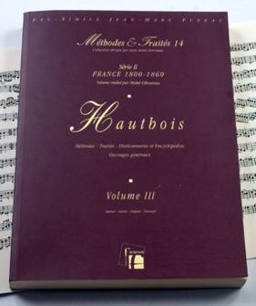 Giboureau M. - Methodes Et Traites Hautbois Vol.3, Serie Ii France 1800-1860 - Fac-simile Fuzeau