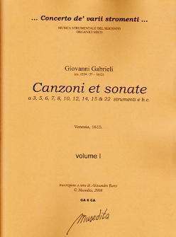 Gabrieli Giovanni - Canzoni E Sonate (venise 1615)