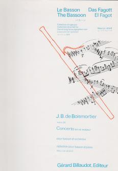 Boismortier Joseph Bodin - Concerto En Re Majeur Op.26 - Basson, Piano