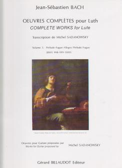 Bach J.s. - Oeuvres Completes Pour Luth Vol.3 - Guitare