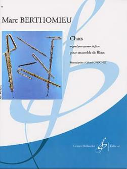 Berthomieu Marc - Chats - Ensemble Flutes