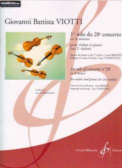 Viotti G.b. - 1er Solo Du 28e Concerto En La Mineur - Violon, Piano