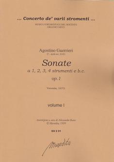 Guerrieri A. - Sonate Op. 1 - Violon - Conducteur Vol. 1