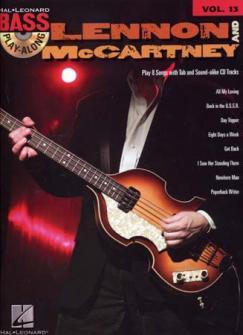 Lennon & Mc Cartney - Bass Play Along Vol.13 + Cd - Bass Tab