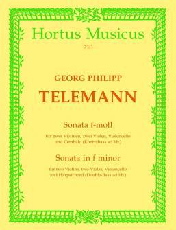 Telemann G.p. - Sonata F-moll Twv 44:32 - Violon, Alto, Violoncelle, Basse Continue