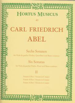Abel Sechs Sonaten Für Viola Da Gamba Und Basso Continuo, Ii