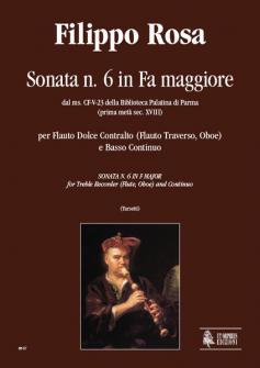 Rosa Filippo Sonata N°6 In F Maj From The Ms Cf v 23 Of The Biblioteca Palatina In Parma