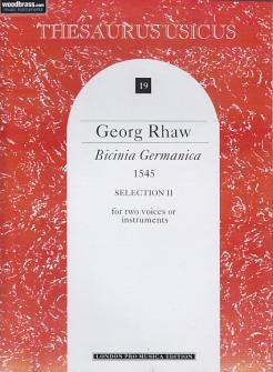 Rhaw G. - Bicinia Germanica (1545) Selection Ii - 2 Instruments (2 Voix)