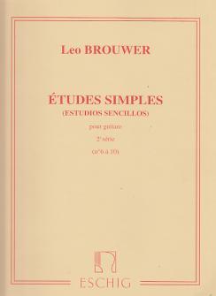 Brouwer - Etudes Simples Pour Guitare 2eme Série N°6 A 10