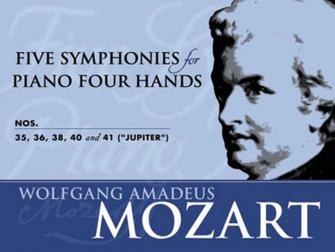 MOZART W.A. - 5 SYMPHONIES N°35-36-38-40-41 - PIANO 4 MAINS