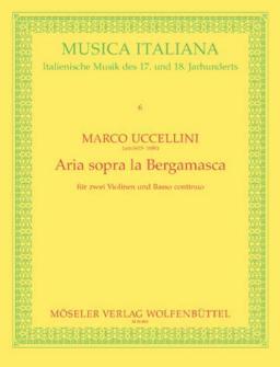 Uccelini Marco - Aria Sopra La Bergamasca - 2 Violons Et Basse Continue