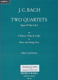 Bach J.c. - Two Quartets Op.19 N° 1 & 3