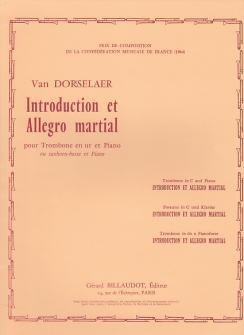 Dorsselaer Willy Van - Introduction Et Allegro Martial - Trombone, Piano