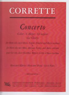 Corrette Michel - Concerto C-dur 'la Choisy' - Cor, Piano