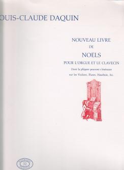 Daquin L.c. - Nouveau Livre De Noels - Orgue (clavecin)